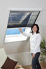 Fliegen-gitter Mücken-schutz Insektenschutz-Dachfenster-Plissee 80 x 160 cm in Braun