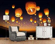 Fliegende Laterne in den Nachthimmel 3D Wallpaper,