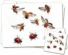 Fliegende Marienkäfer Zwillings Platzdeckchen
