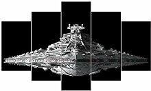 Fliegende Untertasse Schlachtschiff Abstrakte