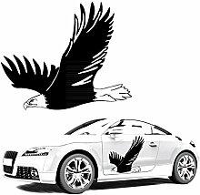 Fliegender Adler als Autotattoo zum Verkleben Car Dekoration Eagle Sticker Aufkleber |KB242