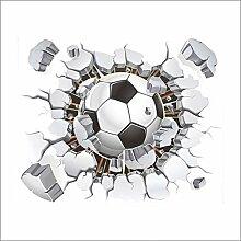 Fliegender Fußball Zerbrochene Wandaufkleber
