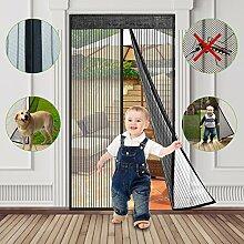 Fliegengitter Balkontür, fliegengitter Tür magnet insektenschutz, 90x210cm, fliegengittertüren für Eingangstüren, Terrassentür, Wohnmobil, Terrassentür