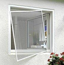 Fliegengitter Fenster Insektenschutz Alurahmen Fliegenschutz Mückenschutz grau 1,2 x 1,3 m