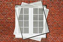 Fliegengitter Fenster Insektenschutz Fliegengitter Spannrahmen 75 x 75 cm in braun