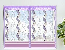 Fliegengitter Fenster mit Magnetverschluss Plaetschern Insektenschutz Fenster Lila,60*120