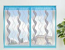 Fliegengitter Fenster mit Magnetverschluss Plaetschern Insektenschutz Fenster Blau,80*100