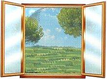 Fliegengitter Insektenschutz 130x150cm schwarz Fliegennetz Fenster Fliegenschutz
