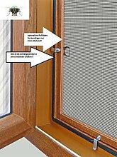 Fliegengitter- Insektenschutz- Alu- GOLDEICHE optimal für Rolläden- Insektenschutzgitterfarbe GRAU (150cm x 170cm, + 25mm)