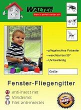Fliegengitter Insektenschutz Mückengitter HQ Fenster Schwarz 130x150cm