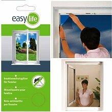 Fliegengitter Insektenschutzgitter für Fenster 110 x 130 cm Anthrazi