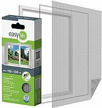 Fliegengitter Insektenschutzgitter für Fenster 110 x 130 cm Weiss