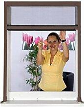 Fliegengitter Insektenschutzrollo BASIC für Fenster bis 130 x 160 cm