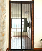 Fliegengitter Magnetvorhang Insektenschutz für Balkontür Schiebetür Terrassentür schwarz (90 x 210cm)