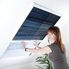 Fliegengitter Plissee für Dachfenster - Insektenschutz - Dachfensterplissee - 110 x 160 cm weiß