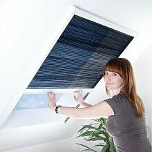 Fliegengitter Plissee für Dachfenster - Insektenschutz - Dachfensterplissee - 80 x 160 cm braun