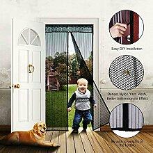 Fliegengitter Tür , Guaiboshi Magnet Fliegengitter Tür Vorhang Insektenschutz Magnetvorhang Magnetverschluss Moskitonetz Kinderleichte Klebemontage für Balkontür, Wohnzimmers, Kellertür