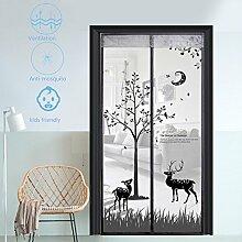 Fliegengitter Tür Insektenschutz Fliegengitter Magnetvorhang für Balkontür Schiebetür Terrassentür 100x210,Grau