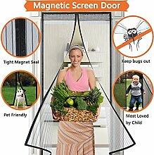 Fliegengitter Tür Insektenschutz Magnet Fliegenvorhang110*220 | 90*210 - Klebmontage ohne Bohren - Vorhang für Balkontür Wohnzimmer Schiebetür Terrassentür