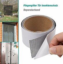 Fliegengitter Tür Insektenschutz Reparaturband, Wasserdichte Glasfaserabdeckung Mesh-Reparatur Fliegengittertüren, Gartenzaun im Freien, Terrassentüren