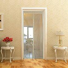 Fliegengitter Tür Insektenschutz Vorhänge Magnetvorhang Magnetischer Fliegenvorhang Moskitonetz für Türen/Balkontür, 100 x 210 cm