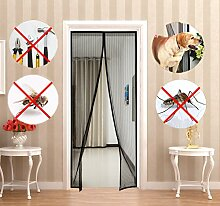 Fliegengitter Tür, Magnet Fliegengitter Tür Insektenschutz 90x210cm, Der Magnetvorhang ist Ideal für die Balkontür, Kellertür, Terrassentür, Kinderleichte Klebemontage Ganz Ohne Bohren