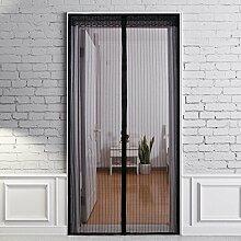 Fliegengitter Tür Moskitonetz Tür LB Trading Magnetische Mesh-Schirmtür Selbstschließender Vorhang für Haushalt Anti-Insekten -90 * 210cm (Schwarzes)