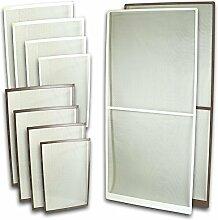 Fliegennetz Fenster Aluminium Rahmen Weiss Größe 130cm*150cm Fliegengitter Insektenschutz Gitter Fiberglas