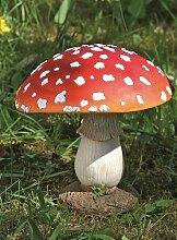 Fliegenpilz Deko Pilz Gartendeko Pilze Garten rot getupft H ca 17 cm 1812-2501000A