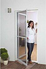 Fliegenschutz-Gitter Set Hecht Master SlimPlus Tür Fliegengitter inkl. Zarge 120x240cm Aluminium Insektenschutz Balkontür Terrassentür