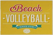 Fliese Kachel Fun Beach Volleyball Keramik