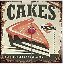 Fliese Kachel Küche Kuchen Keramik bedruckt 15x15