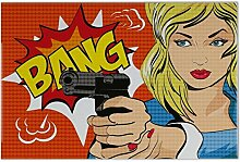 Fliese Kachel Lustiges Comic Bang Keramik bedruckt