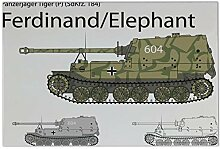 Fliese Kachel Militär Panzer Ferdinand Keramik