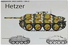 Fliese Kachel Militär Panzer Hetzer Keramik