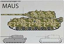 Fliese Kachel Militär Panzer Maus Keramik