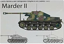 Fliese Kachel Nostalgie Marder II Panzer Keramik