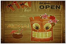 Fliese Kachel Nostalgie Tiki Bar Keramik bedruckt