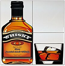 Fliese Kachel Plakat Scottish Malt Whisky Keramik