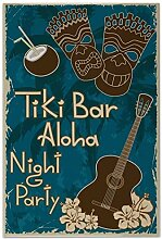 Fliese Kachel Plakat Tiki Bar Aloha Party Keramik