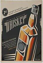 Fliese Kachel Plakat Whiskey Keramik bedruckt