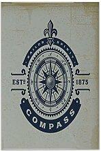 Fliese Kachel Reise Fernweh Kompass Keramik