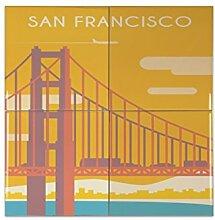 Fliese Kachel Retro Metropole San Francisco USA