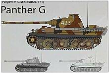 Fliese Kachel Retro Motiv Panzer Panther G Keramik