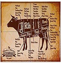 Fliese Kachel Retro Rindfleisch Keramik bedruckt