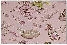 Fliese Kachel Retro Rose Parfüm Keramik bedruckt