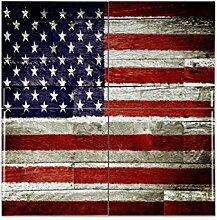 Fliese Kachel Urlaub Reisebüro Flagge USA Keramik