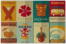 Fliese Kachel Urlaub Reisebüro Hawaii Tiki Bar