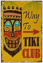 Fliese Kachel Welt Reise Tiki Club Keramik