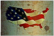 Fliese Kachel Weltenbummler Flagge USA Keramik